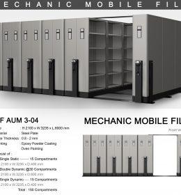jual Mobile File Alba Mekanik MF AUM 3-04 ( 150 Compartments )