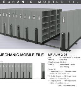 jual Mobile File Alba Mekanik MF AUM 3-05 B ( 180 Compartments )