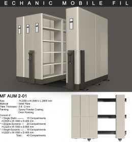 jual Mobile File Alba Mekanik MF 2-01 ( 40 Compartments )