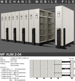 jual Mobile File Alba Mekanik MF AUM 2-04 ( 100 Compartments )