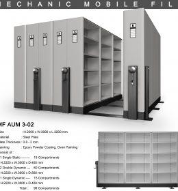 jual Mobile File Alba Mekanik MF AUM 3-02 ( 90 Compartments )