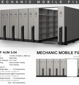 jual Mobile File Alba Mekanik MF AUM 3-04 ( 150 Compartments )