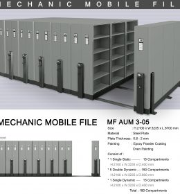 jual Mobile File Alba Mekanik MF AUM 3-05 B ( 180 Compartments )